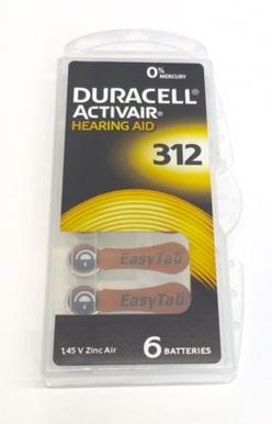 duracell 6er pack activair typ 312. Black Bedroom Furniture Sets. Home Design Ideas
